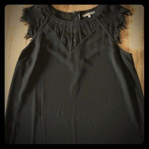 Black top with lacy detail